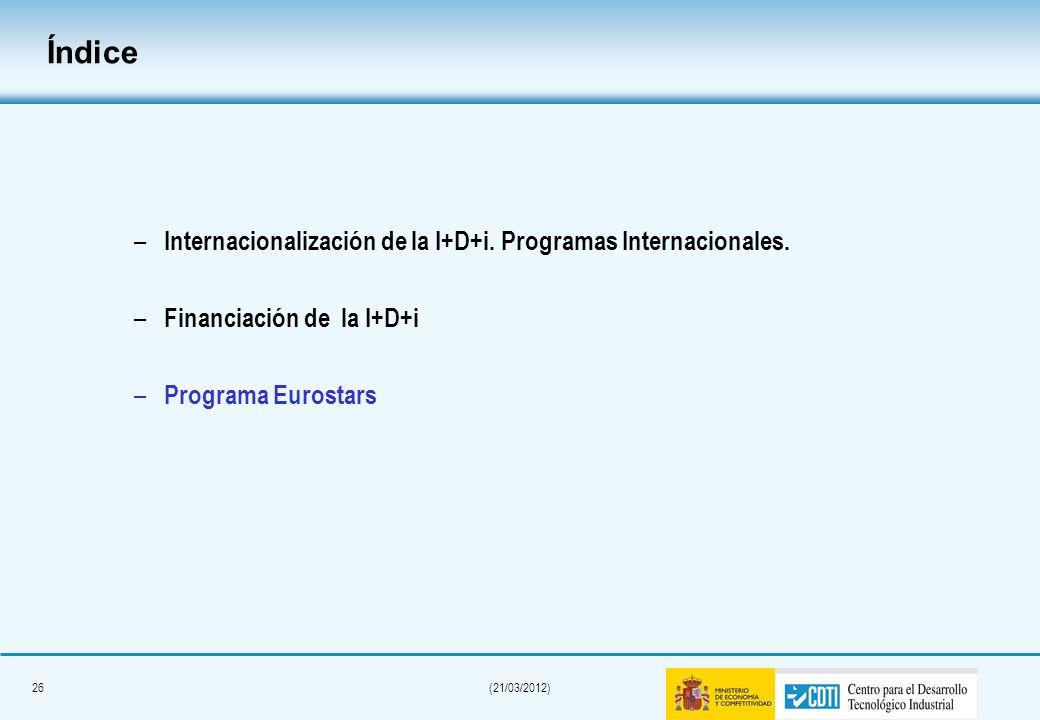 25(21/03/2012) Tramo no reembolsable (sobre 75% ayuda) Tramo básico + primas Distinción entre PYMES y grandes empresas TNR básico + Coop nacional (PYM