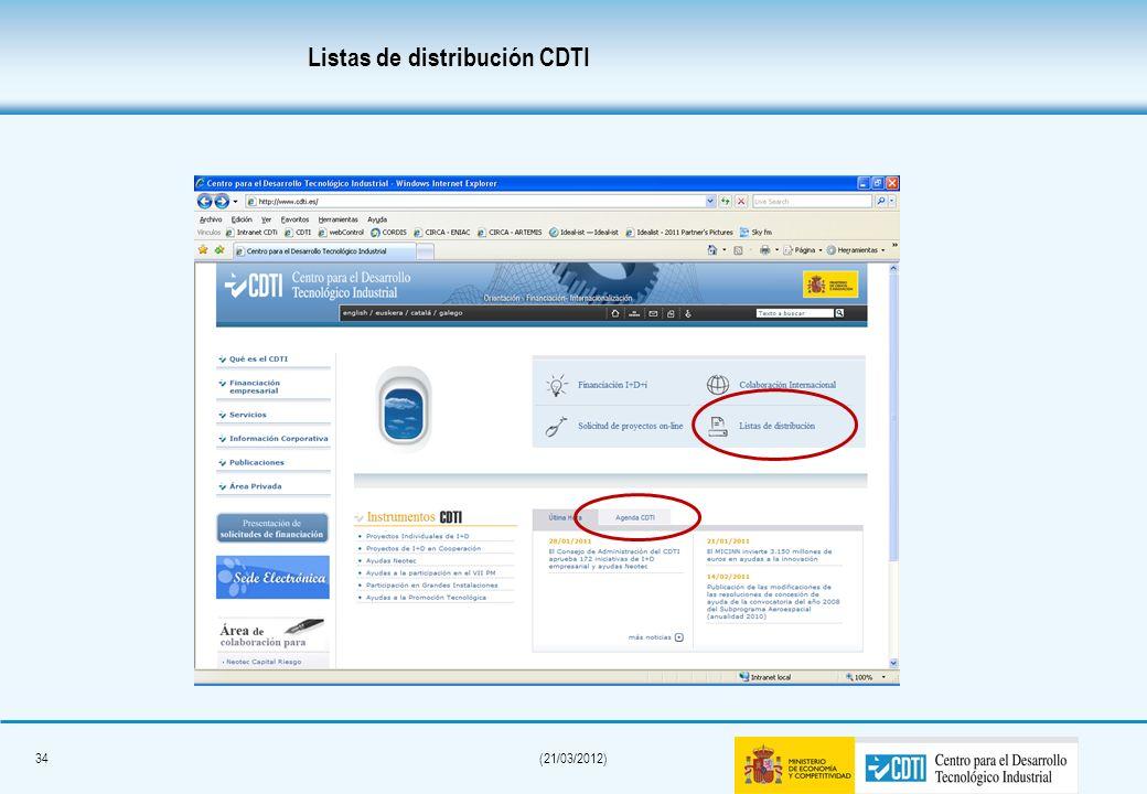 33(21/03/2012) Objetivo: Promoción y protección en mercados exteriores de tecnologías novedosas desarrolladas por PYMES españolas. Presupuesto financi