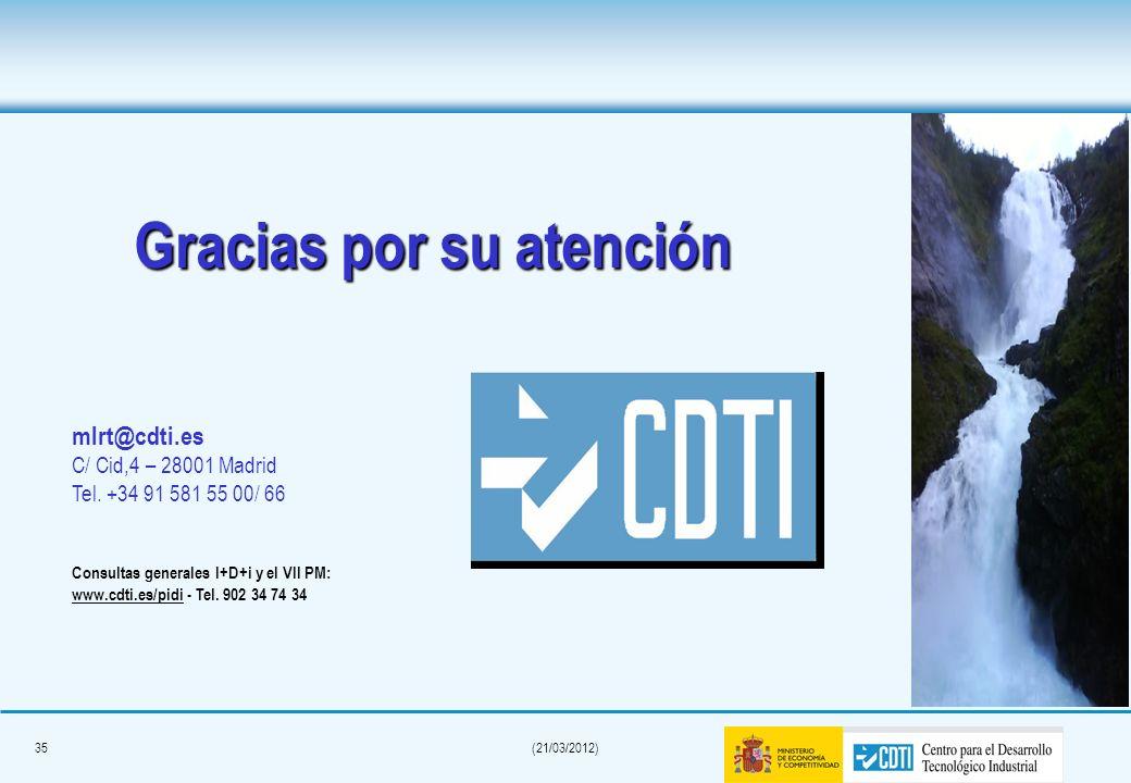 34(21/03/2012) Listas de distribución CDTI