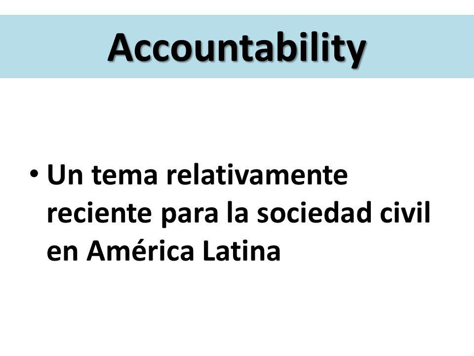 Confiabilidad y Legitimidad Transparencia y Rendición de cuentas Demandas hacia la sociedad civil