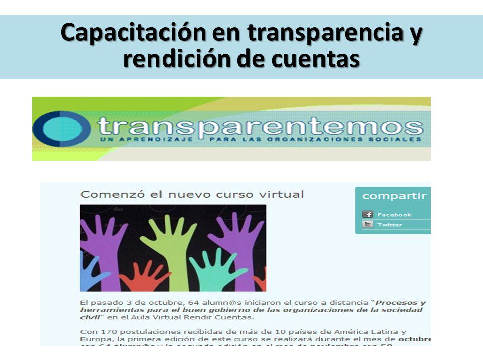 Capacitación en transparencia y rendición de cuentas