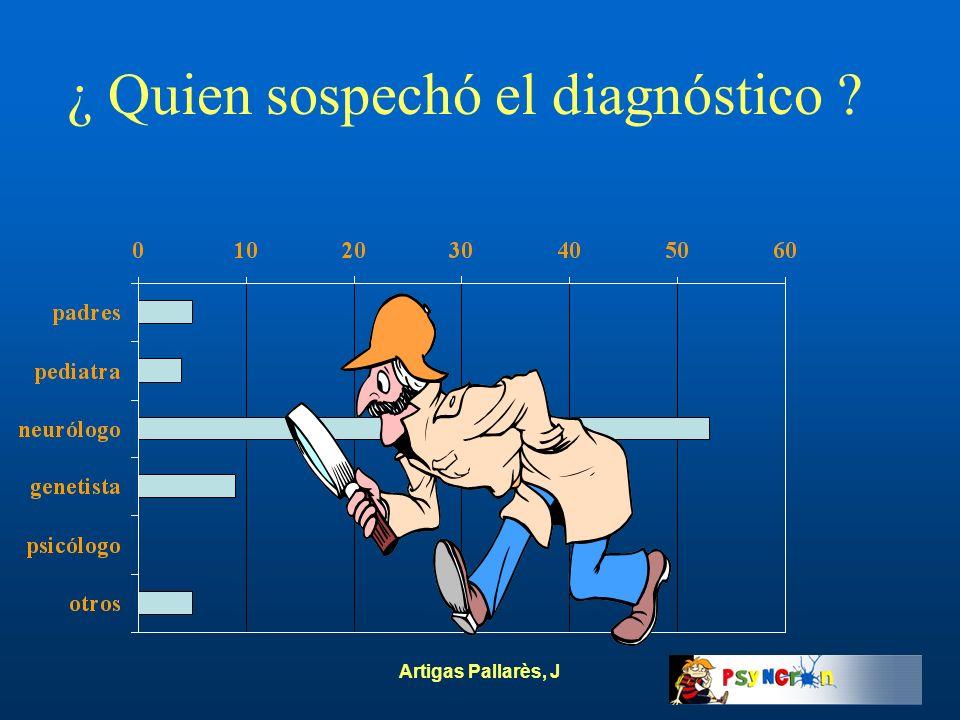 Artigas Pallarès, J ¿ Quien sospechó el diagnóstico ?