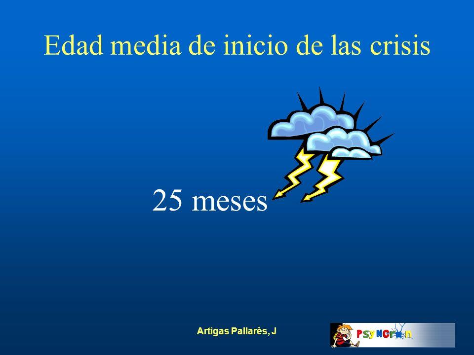 Artigas Pallarès, J Edad media de inicio de las crisis 25 meses