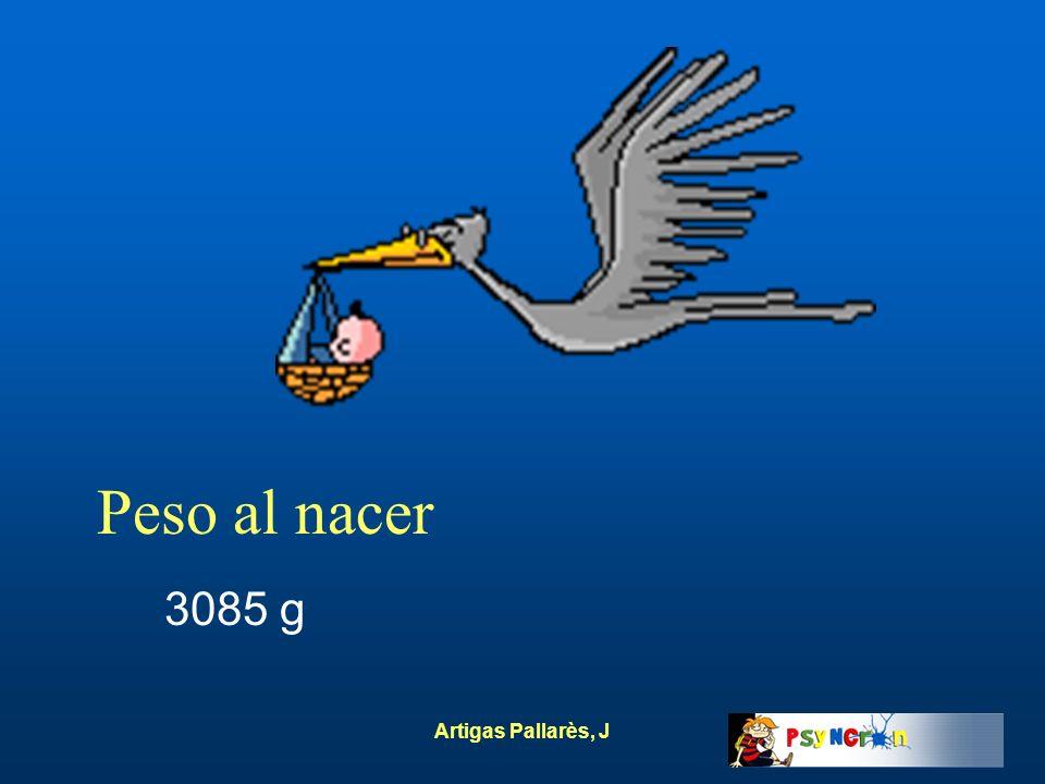 Artigas Pallarès, J Peso al nacer 3085 g