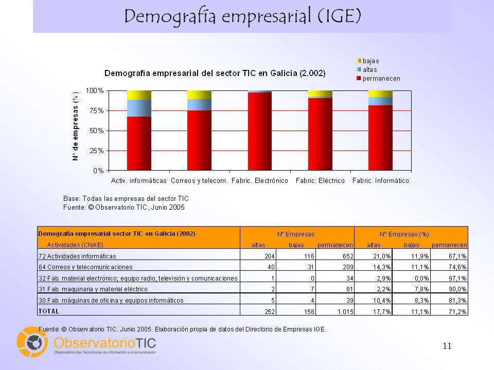 11 Demografía empresarial (IGE)