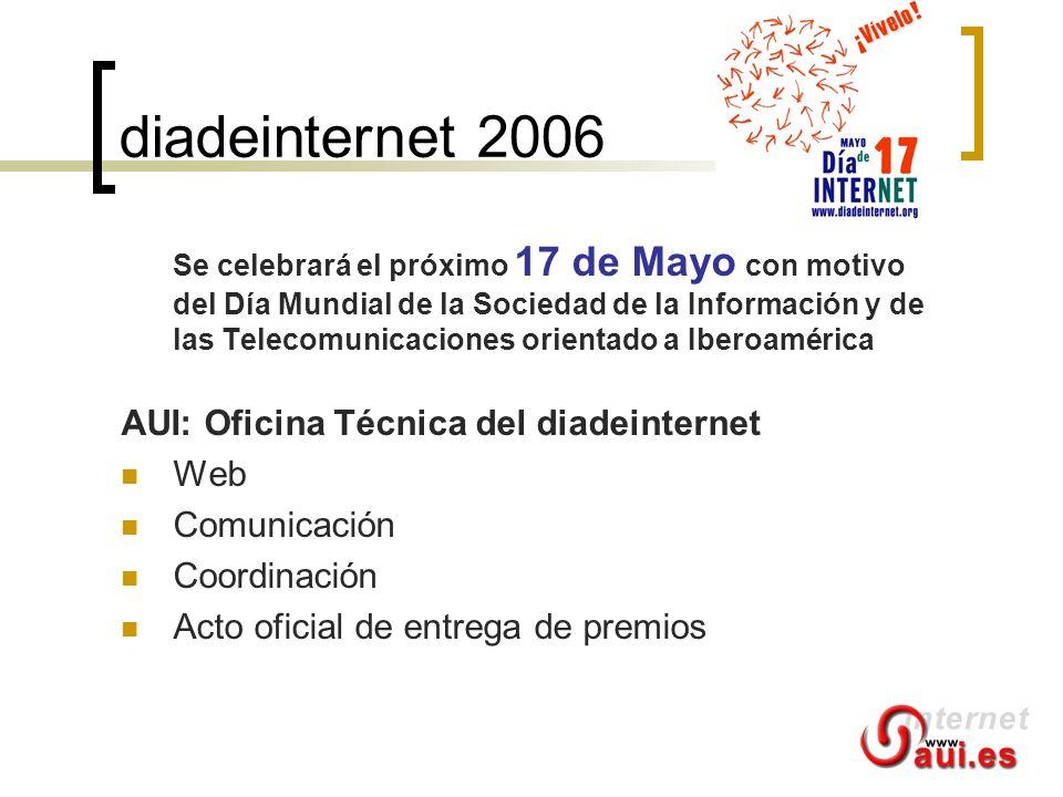 diadeinternet 2006 Se celebrará el próximo 17 de Mayo con motivo del Día Mundial de la Sociedad de la Información y de las Telecomunicaciones orientad
