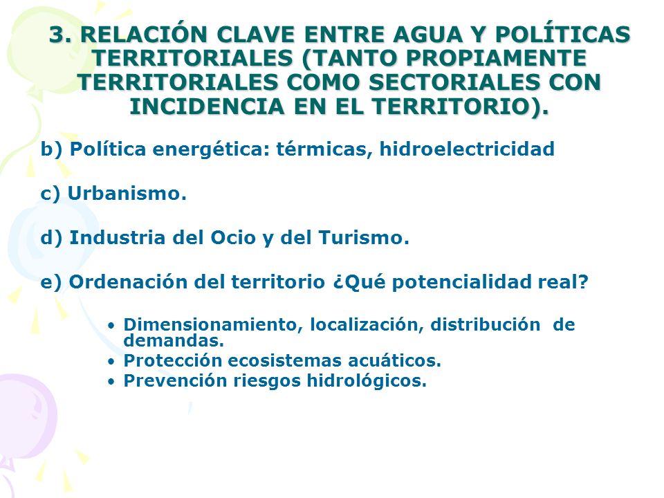TEMA CLAVE: INTEGRACION POLITICA DEL AGUA Y POLITICA AGRARIA Buena parte de los objetivos de los Ejes 2, 3 y 4 del nuevo Reglamento 1698/2005 de ayuda