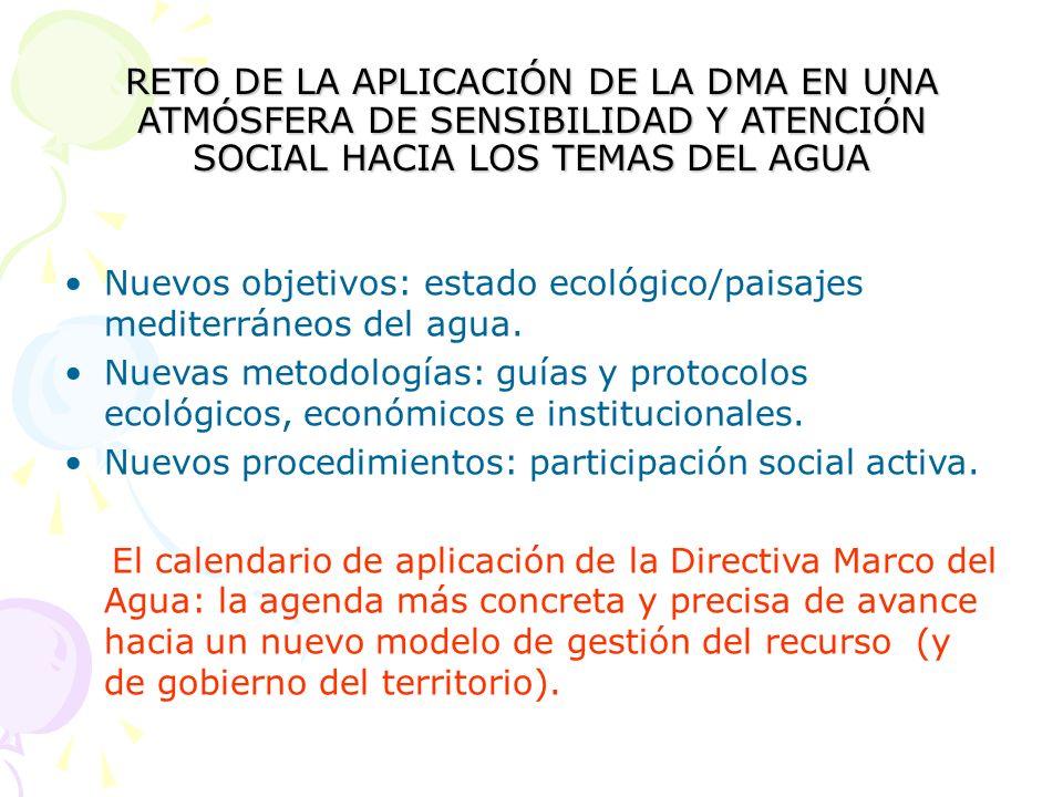 6. REFORMA DE LA ADMINISTRACIÓN PÚBLICA DEL AGUA Información y participación social Composición de los organismos responsables. Diversificación de per