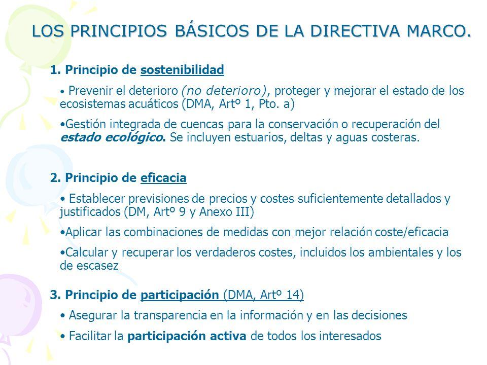 LOS PRINCIPIOS BÁSICOS DE LA DIRECTIVA MARCO.1.