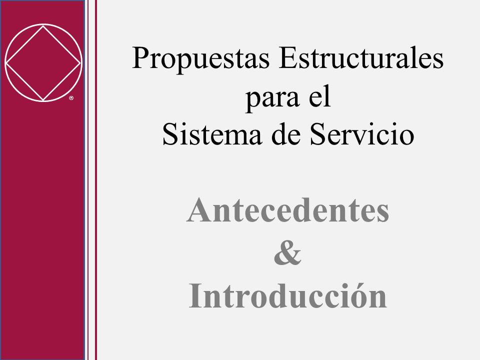 Propuestas Estructurales para el Sistema de Servicio Antecedentes & Introducción