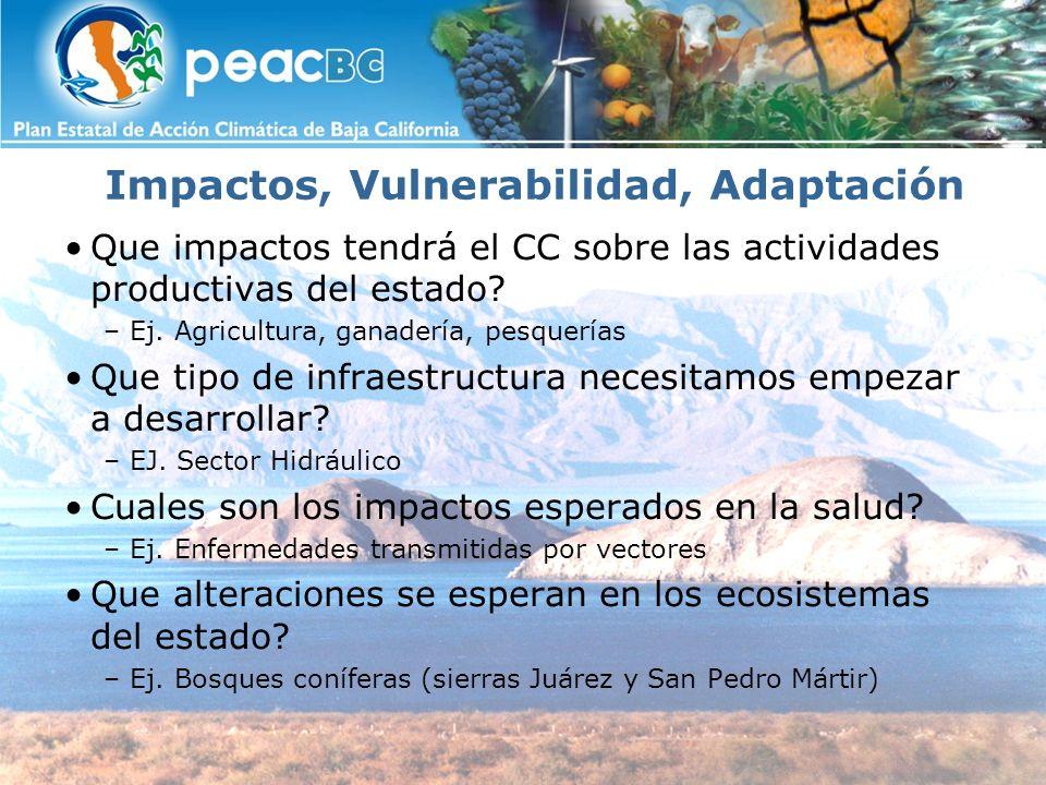 Convenio PEAC El 5 de Junio del presente año Gobierno del Estado de Baja California, firmo el convenio de colaboración con las Instituciones de Educación Superior (IES) del Estado, CICESE, COLEF y UABC La Secretaria de Protección al Ambiente, ha venido coordinando el desarrollo de los estudios locales de cambio climático, con el propósito de elaborar el Plan Estatal de Acción Climática para Baja California (PEAC-BC).