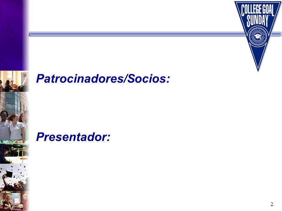 2 Patrocinadores/Socios: Presentador:
