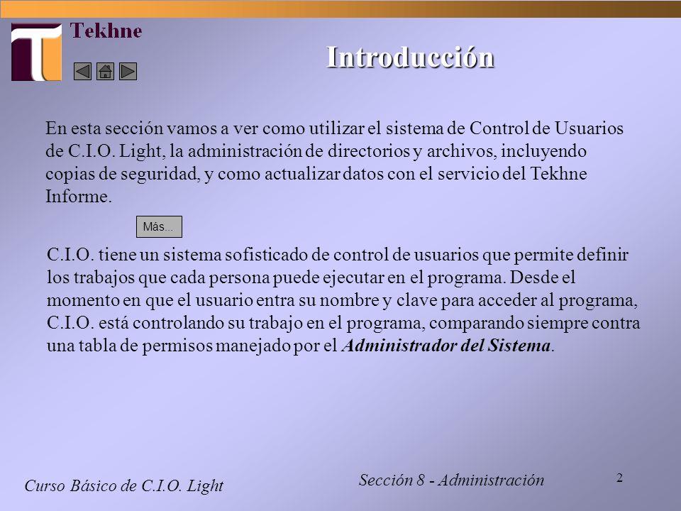 3 Control de Usuarios - 1 Curso Básico de C.I.O.