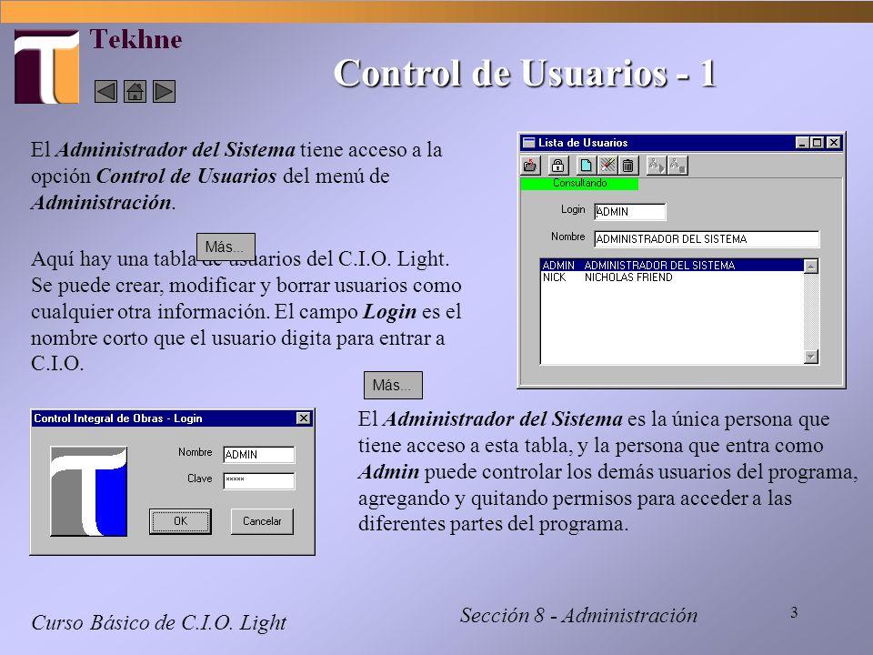 4 Control de Usuarios - 2 Curso Básico de C.I.O.