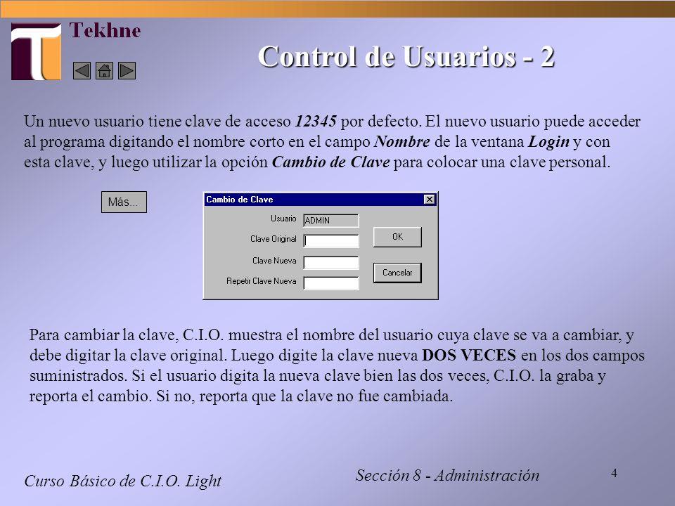 15 Actualizando con el Tekhne Informe Curso Básico de C.I.O.