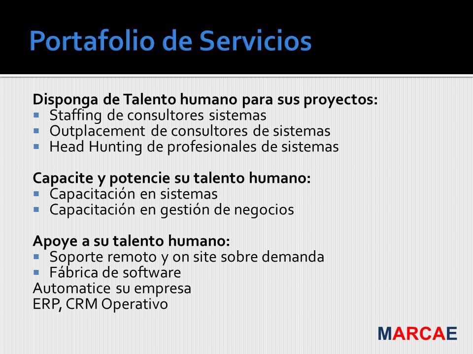 Disponga de Talento humano para sus proyectos: Staffing de consultores sistemas Outplacement de consultores de sistemas Head Hunting de profesionales