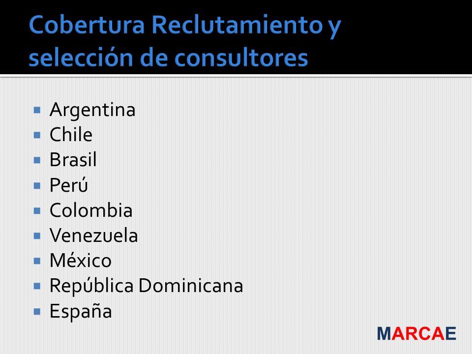 Argentina Chile Brasil Perú Colombia Venezuela México República Dominicana España MARCAE