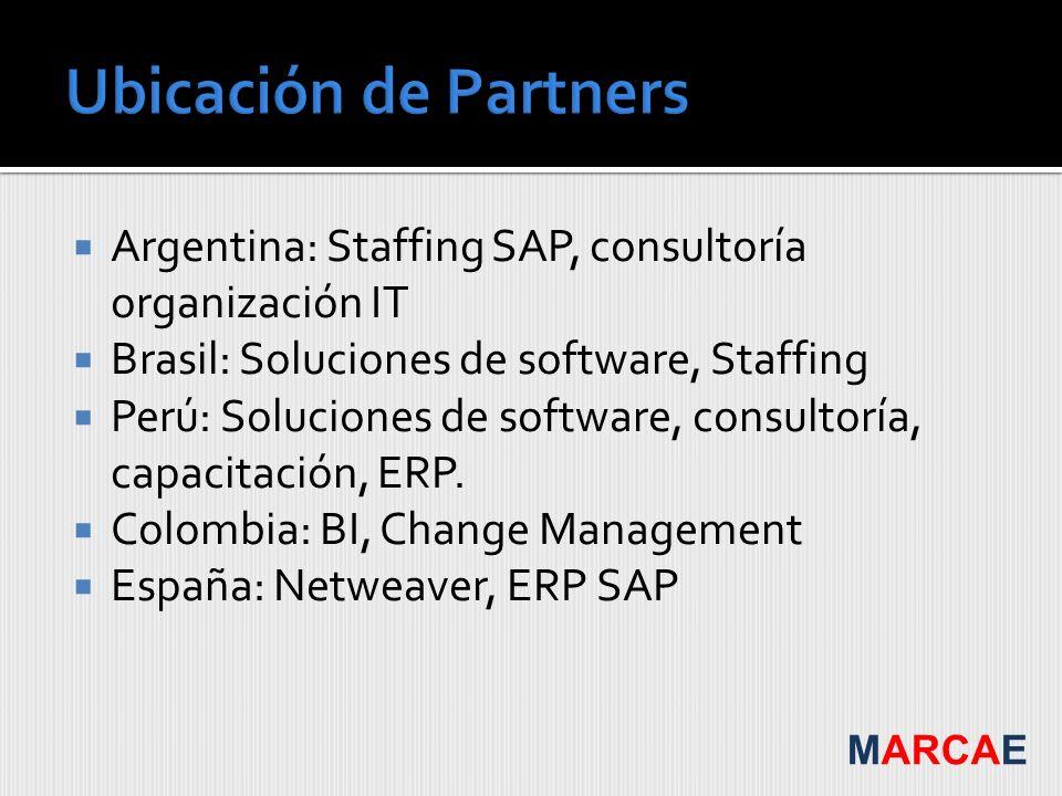 Argentina: Staffing SAP, consultoría organización IT Brasil: Soluciones de software, Staffing Perú: Soluciones de software, consultoría, capacitación,