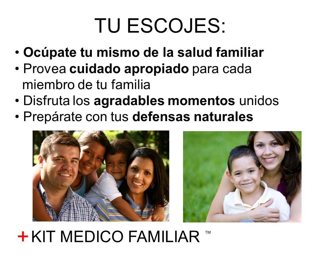 + TU ESCOJES: Ocúpate tu mismo de la salud familiar Provea cuidado apropiado para cada miembro de tu familia Disfruta los agradables momentos unidos P