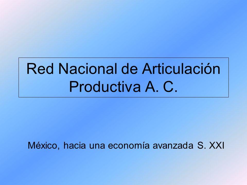 Red Nacional de Articulación Productiva A. C. México, hacia una economía avanzada S. XXI