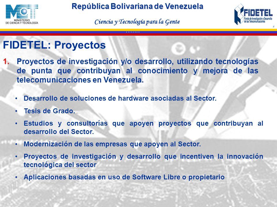 República Bolivariana de Venezuela Ciencia y Tecnología para la Gente * * * * * * * Desarrollo de soluciones de hardware asociadas al Sector. Tesis de