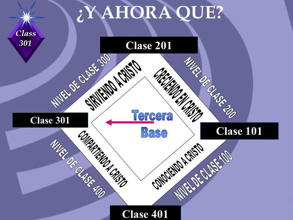 Class 301 Clase 201 Clase 301 Clase 401 Clase 101 ¿Y AHORA QUE?