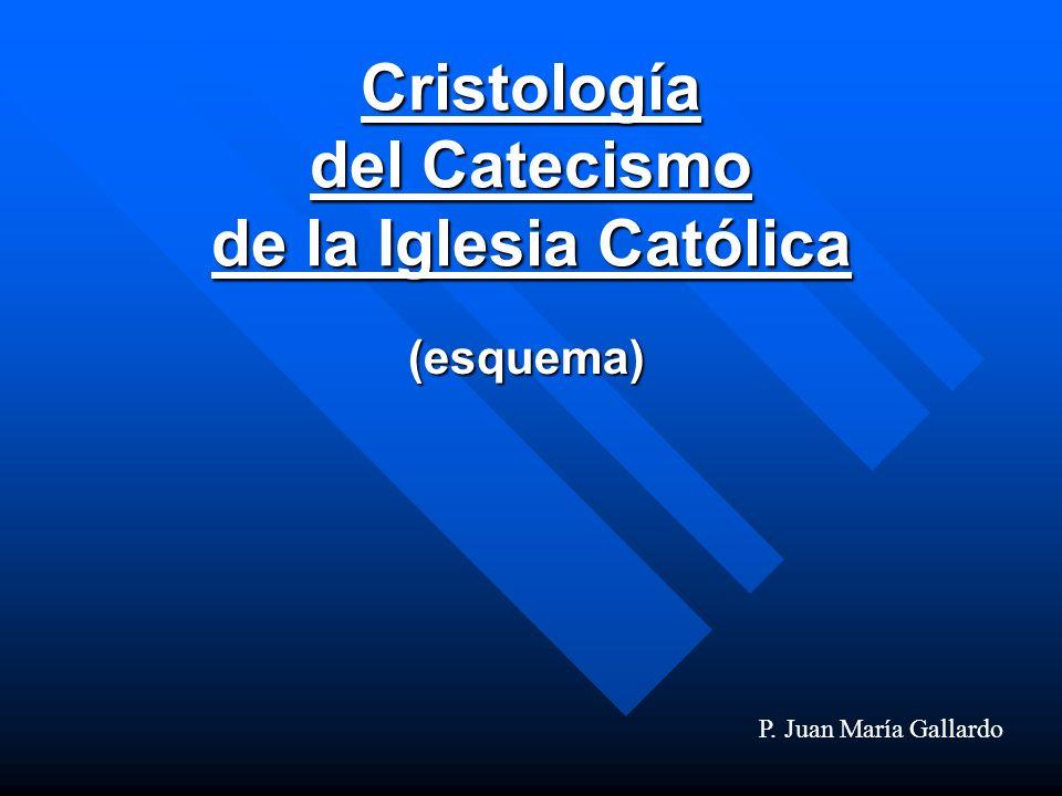 Cristología del Catecismo de la Iglesia Católica (esquema) P. Juan María Gallardo