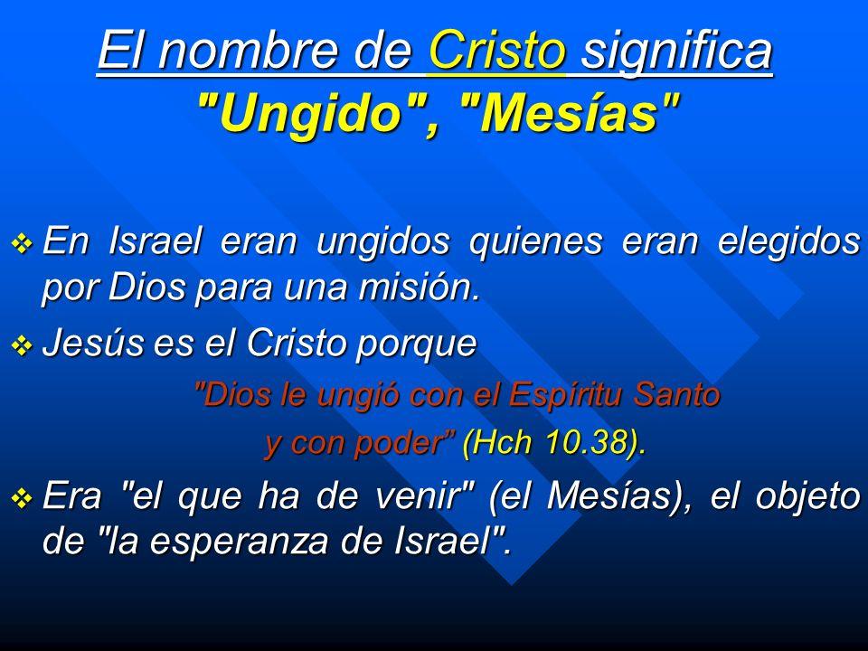 El nombre de Cristo significa