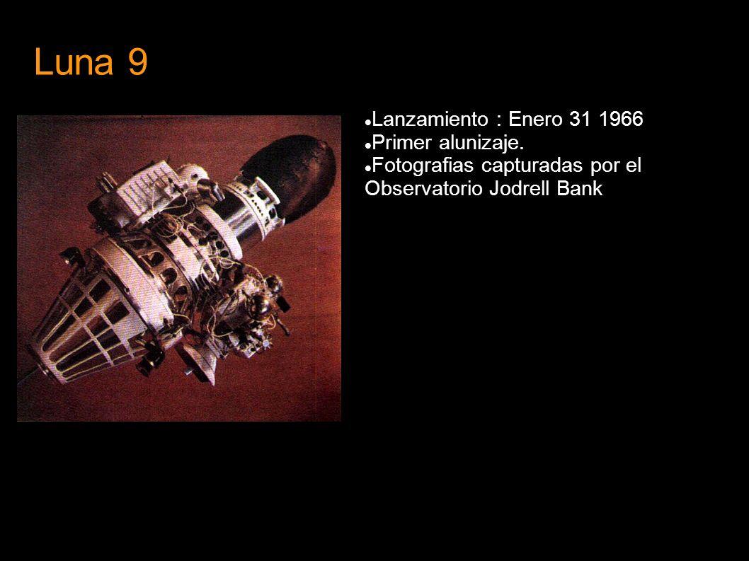 Luna 9 Lanzamiento : Enero 31 1966 Primer alunizaje. Fotografias capturadas por el Observatorio Jodrell Bank