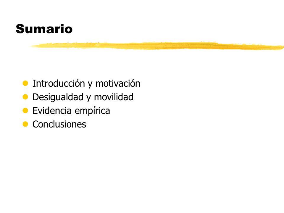 Sumario lIntroducción y motivación lDesigualdad y movilidad lEvidencia empírica lConclusiones