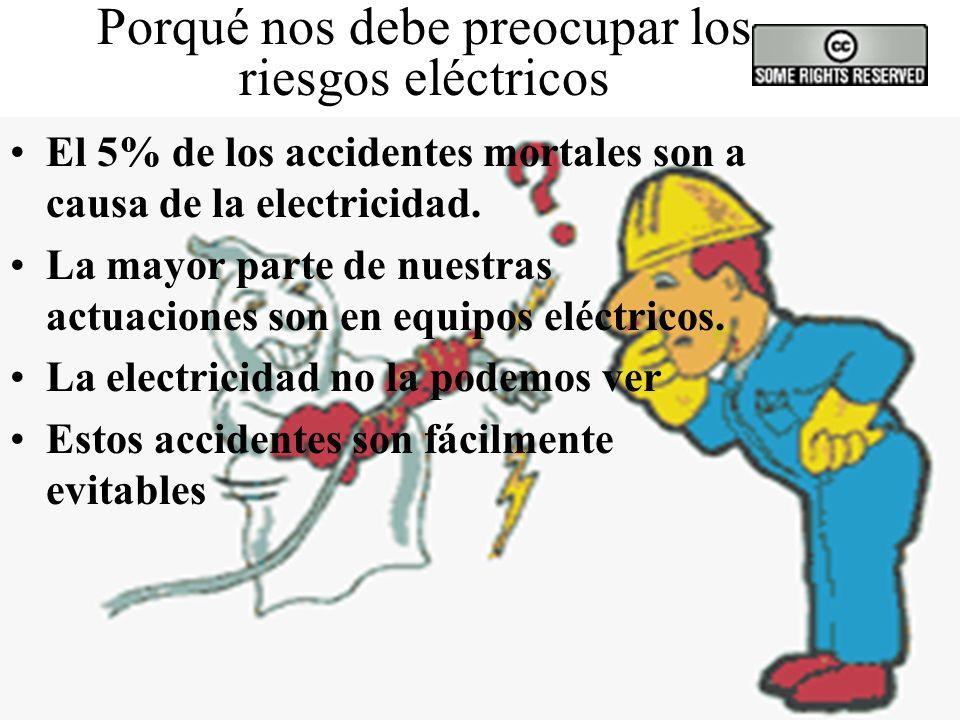 Porqué nos debe preocupar los riesgos eléctricos El 5% de los accidentes mortales son a causa de la electricidad.