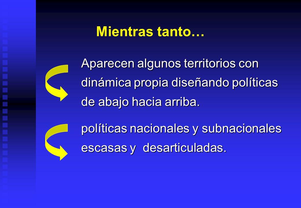 La descentralización.