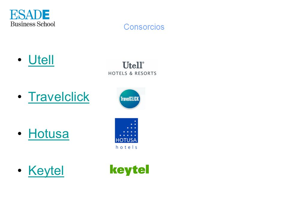Consorcios Utell Travelclick Hotusa Keytel