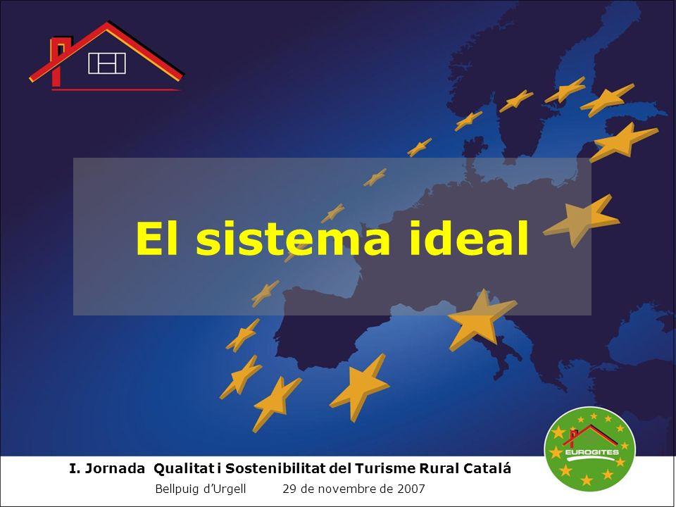 I. Jornada Qualitat i Sostenibilitat del Turisme Rural Catalá Bellpuig dUrgell 29 de novembre de 2007 El sistema ideal