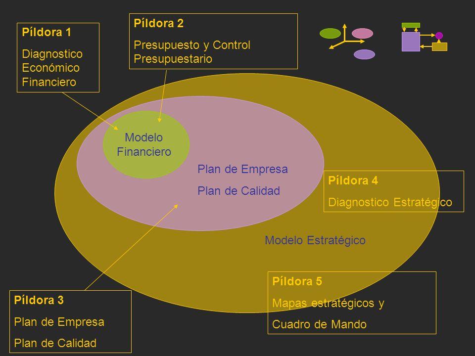 Modelo Financiero Plan de Empresa Plan de Calidad Modelo Estratégico Píldora 1 Diagnostico Económico Financiero Píldora 2 Presupuesto y Control Presup