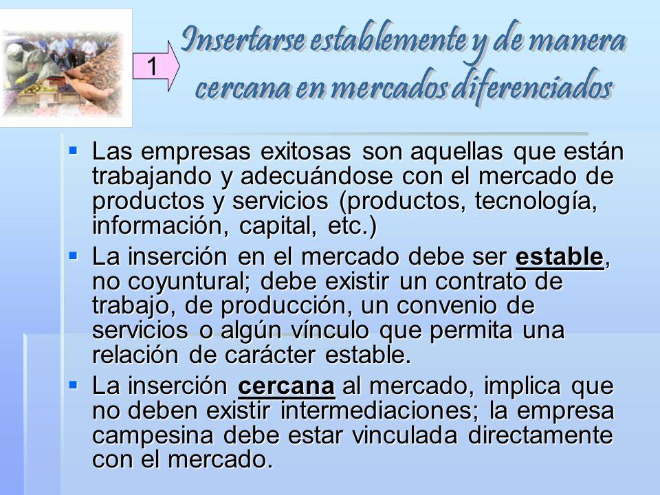Las empresas exitosas son aquellas que están trabajando y adecuándose con el mercado de productos y servicios (productos, tecnología, información, cap