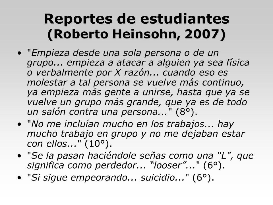 Reportes de estudiantes (Roberto Heinsohn, 2007)