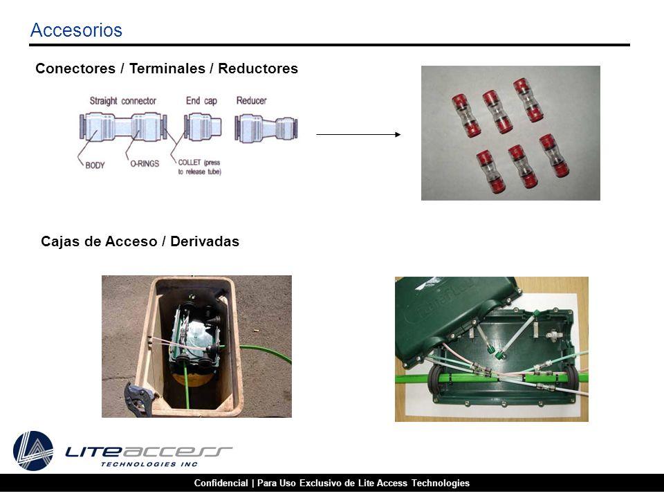 Confidencial | Para Uso Exclusivo de Lite Access Technologies Accesorios Conectores / Terminales / Reductores Cajas de Acceso / Derivadas