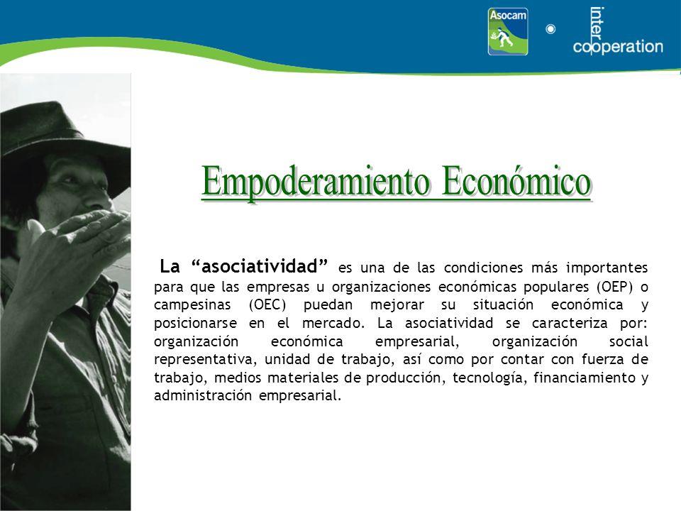 La asociatividad es una de las condiciones más importantes para que las empresas u organizaciones económicas populares (OEP) o campesinas (OEC) puedan