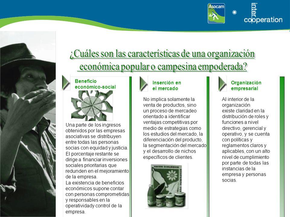 Beneficio económico-social Una parte de los ingresos obtenidos por las empresas asociativas se distribuyen entre todas las personas socias con equidad