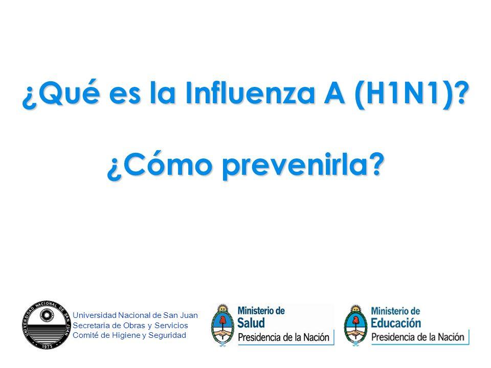 ¿Qué es la Influenza A (H1N1). ¿Cómo prevenirla.
