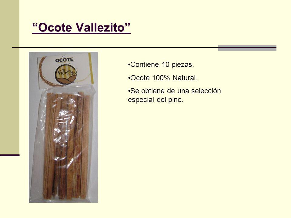 Ocote Vallezito Contiene 10 piezas. Ocote 100% Natural. Se obtiene de una selección especial del pino.