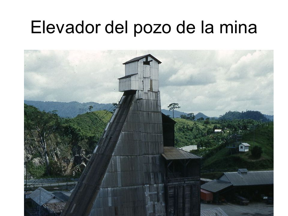 Elevador del pozo de la mina