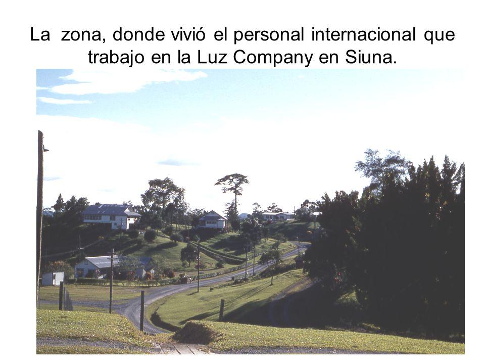 La zona, donde vivió el personal internacional que trabajo en la Luz Company en Siuna.
