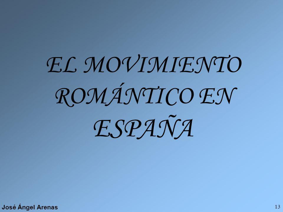 José Ángel Arenas 12 ROMANTICISMO en FRANCIA En este país se observa claramente la división en las tendencias conservadora y liberal. En la tendencia