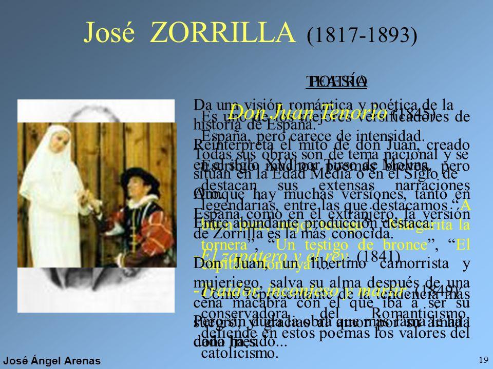 José Ángel Arenas 18 Ángel de Saavedra, DUQUE DE RIVAS (1791-1865) POESÍA - El moro expósito y Abén Humeya. -Romances históricos. Colección de poemas