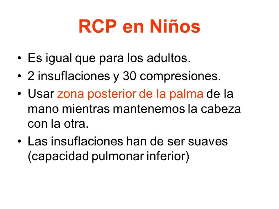 2.- PARADA CARDIORESPIRATORIA (PCR). IMPORTANTE: –Siempre PCR realizar RCP. –Nunca cuando hay incompatibilidad con la vida. –Parar cuando el paciente