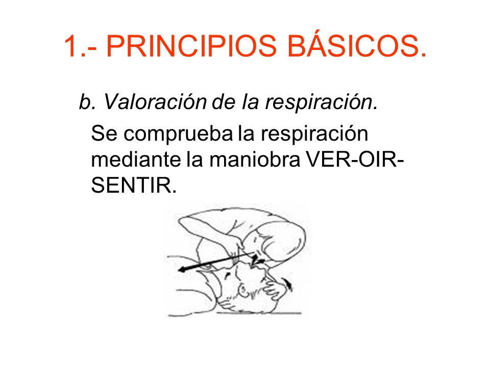 1.- PRINCIPIOS BÁSICOS.b. Valoración de la respiración.