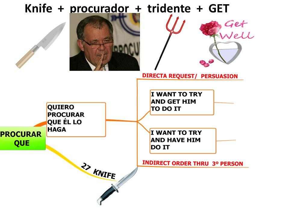 Knife + procurador + tridente + GET