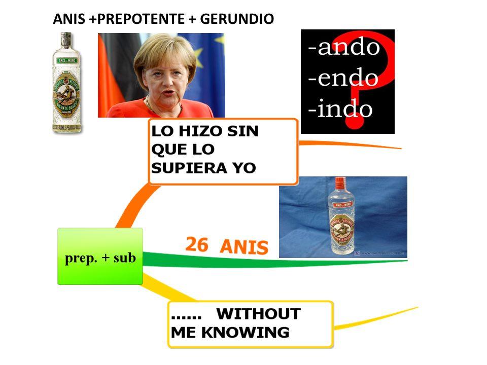 ANIS +PREPOTENTE + GERUNDIO